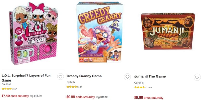Target: Up to 50% Off Games & Puzzles