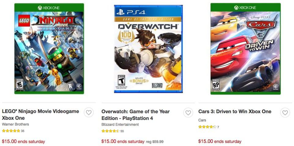 Target: Xbox One, PS4 & Nintendo Switch Video Games ONLY $15.00