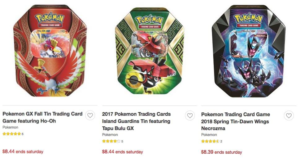 Target: 50% Off Pokemon Trading Cards Tins