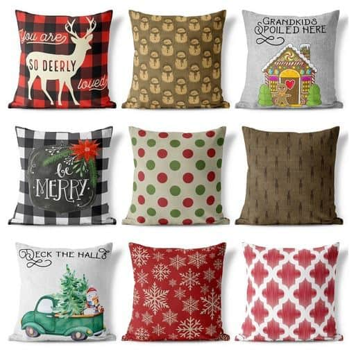 Gorgeous Christmas Pillow Covers Only $5.99