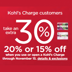 Kohls' Stacking Codes - 30% Off + $10 off $50 Codes + Free Shipping
