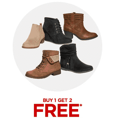 Buy ONE Pair of Boots Get TWO Free at JCPenney
