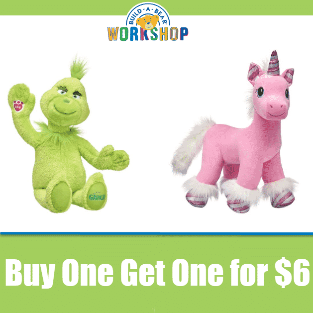 Build A Bear: All Furry Friends Buy One Get One for $6