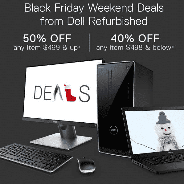 Dell Black Friday Sale: 50% off $499+ Items - 40% off Everything Else - Desktops from $107