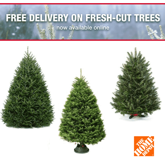 Home Depot Offering FREE DELIVERY ON Fresh-Cut Trees!