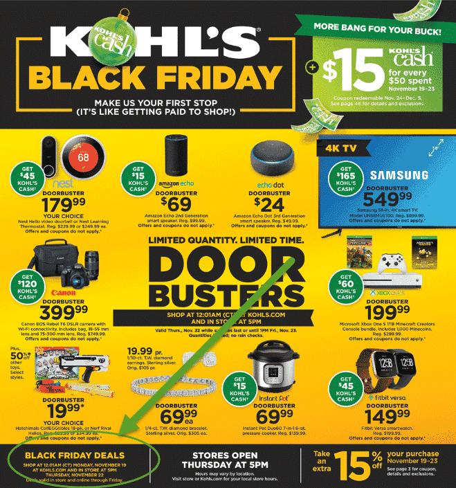Kohl's Black Friday Deals Go LIVE TONIGHT at 1AM EST