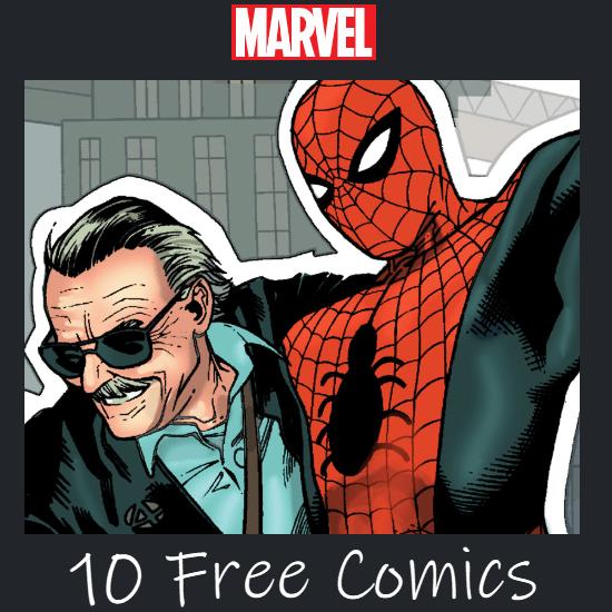 10 FREE Stan Lee Marvel Comics