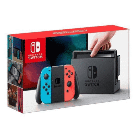Nintendo Switch 32GB Console with Neon Blue and Neon Red Joy-Con Only $259.99