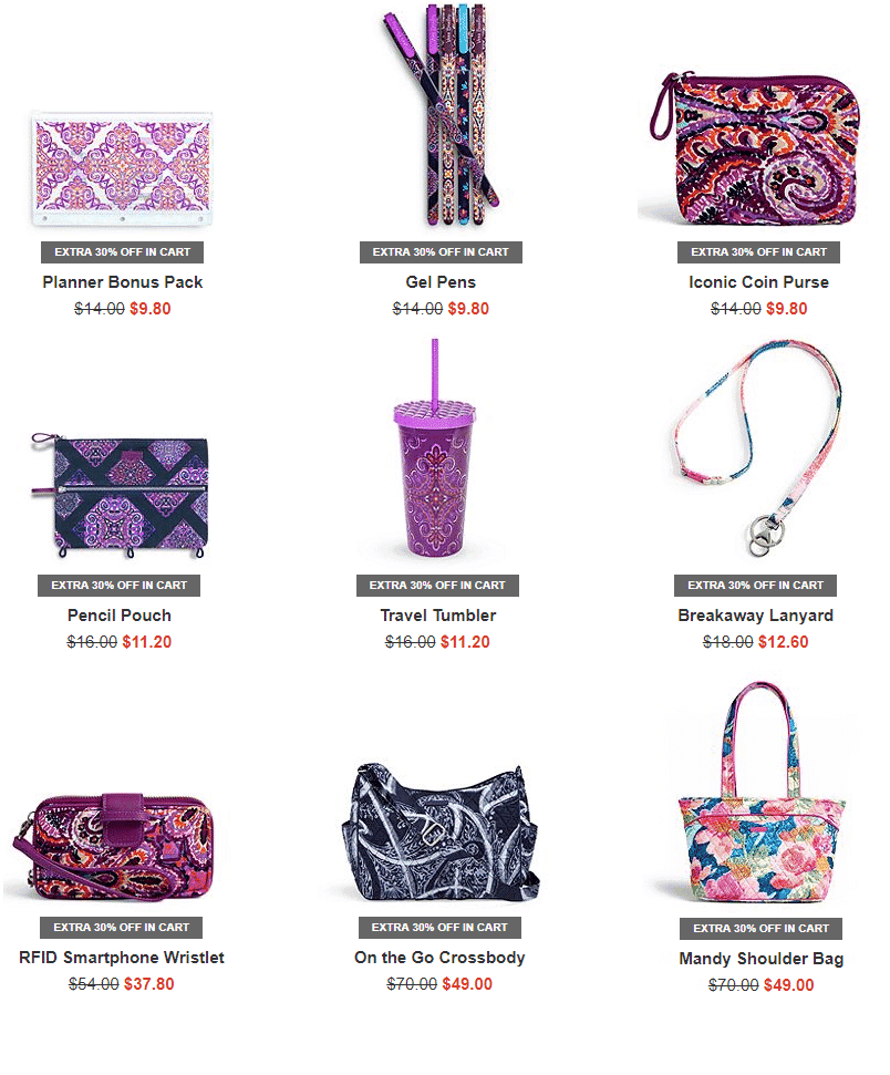 Vera Bradley Bright Friday Sale is LIVE - 30% off Clearance & Free Shipping **HOT**