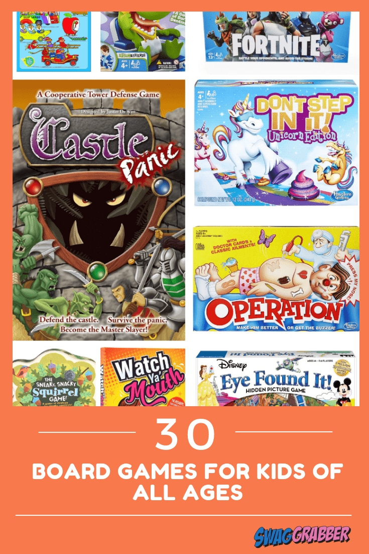 30 Board Games for Kids of All Ages