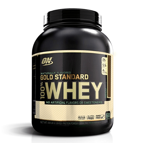 OPTIMUM NUTRITION GOLD STANDARD 100% Whey Protein Powder, 4.8lbs. Only $43