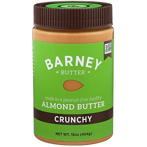Barney Butter Almond Butter, Crunchy, 16 Ounce Only $8.03