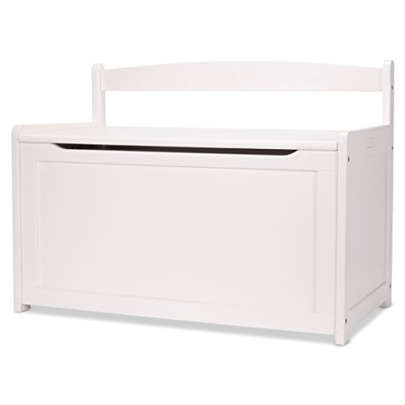 Melissa & Doug Wooden Toy Chest - White Only $58.30 (Was $109.23)
