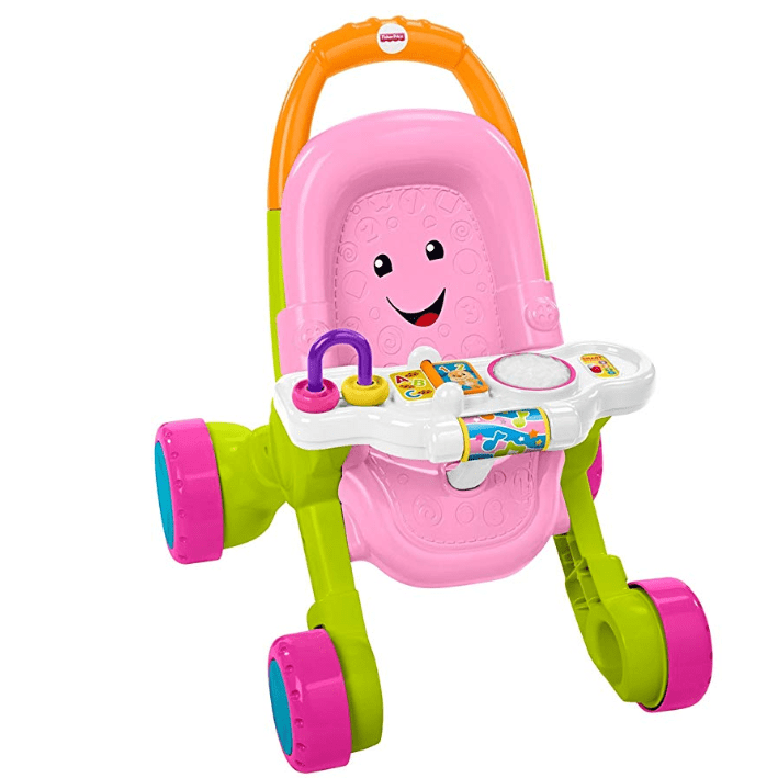 Fisher-Price Stroll & Learn Walker, Pink Only $21.49