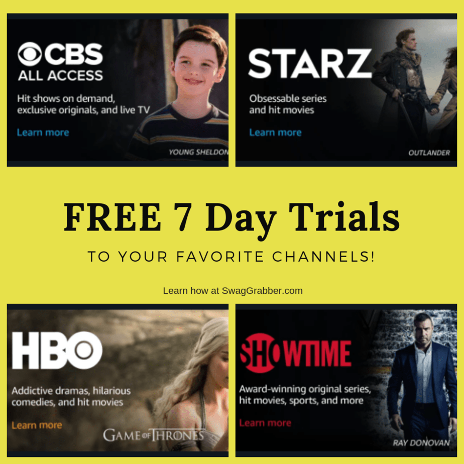 Free 7 Day Trial of HBO, Starz, Showtime, and MORE!