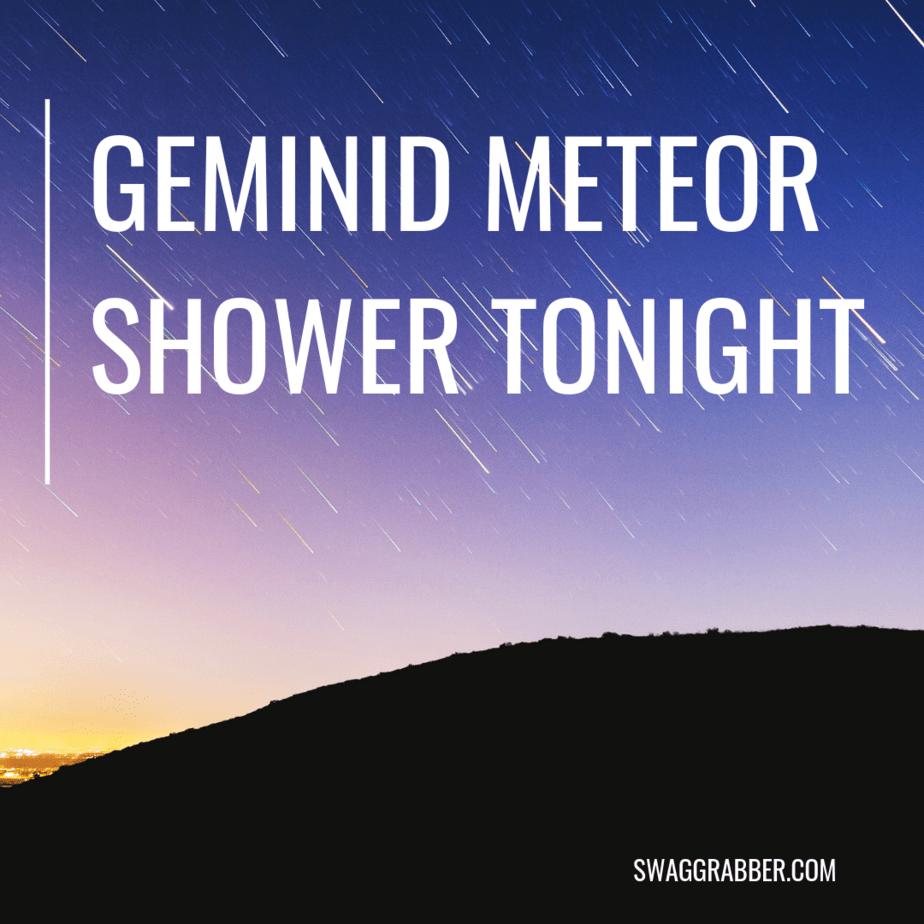 Geminid Meteor Shower TONIGHT - Best of 2018!