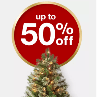 Target: Up to 50% off Holiday Decor + Free Pick Up Today!