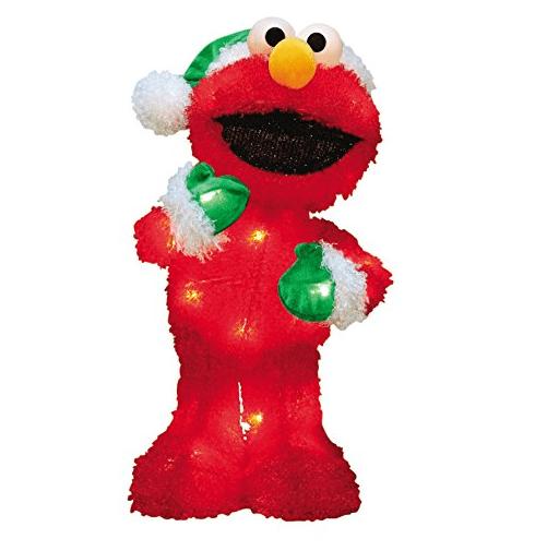Super HOT Deal on a 18-Inch Pre-Lit Sesame Street Elmo Christmas Yard Decoration