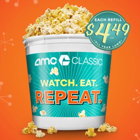 2019 AMC Popcorn Bucket Deal