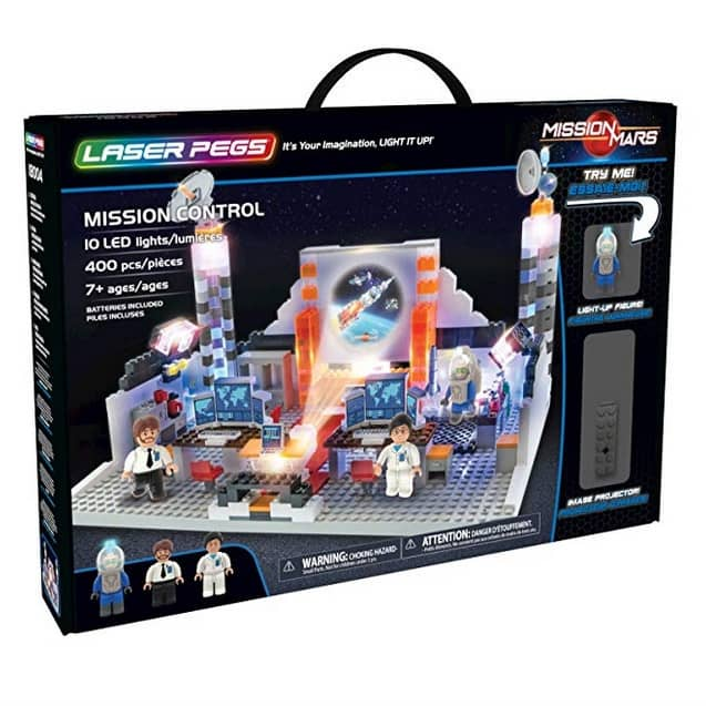 Laser Pegs Mission Control Light-Up 400 Piece Building Block Playset 50% off