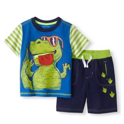 Toddler Boy 3D Interactive 2-Piece Outfit Sets Only $3