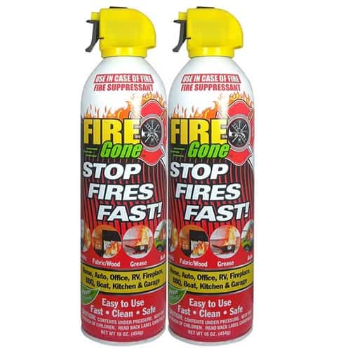 Fire Gone Fire Suppressant Canisters 2-Pack $14.41
