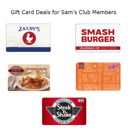 Sam's Club Members Get $15 off $50 Gift Cards **Zaxby's, Boston Market, and More**