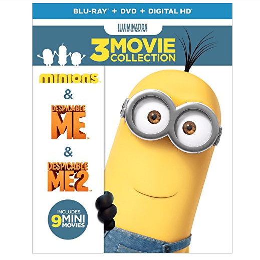 Despicable Me Collection: (Minions / Despicable Me / Despicable Me 2) Blu-ray Only $12.99 (Was $31.98)