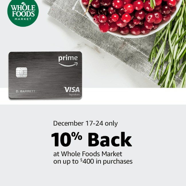 Prime Members Get 10% Back at Whole Foods December 17-24