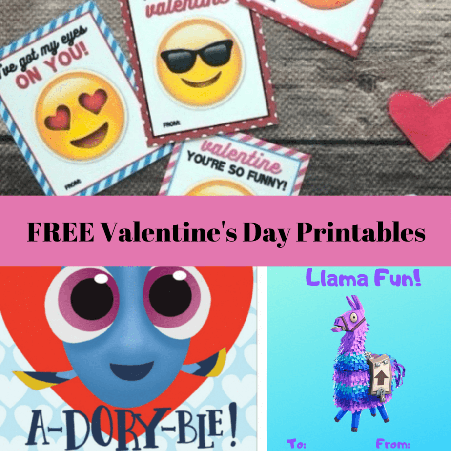HUGE List of Printable Valentine's Day Cards for School