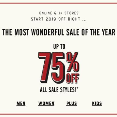 Lucky Brand.com: 75% off Clearance Sale
