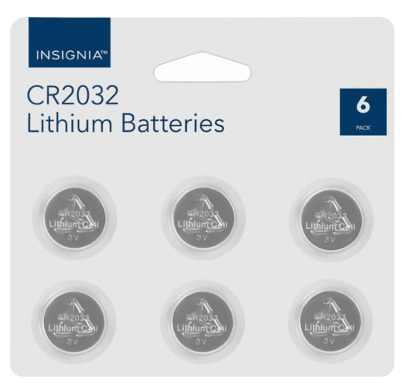 Best Buy: Insignia CR2032 Batteries (6-Pack) Only $5.99