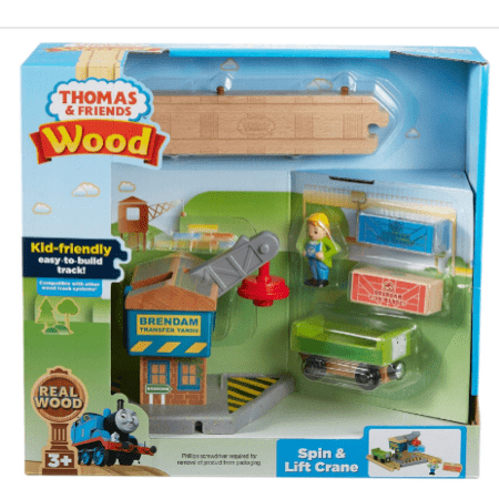 Fisher-Price Thomas & Friends Wood, Spin & Lift Crane Only $11.76 (Was $33.25)