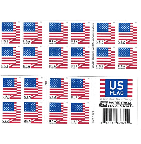 HURRY!!!! 20 USPS US Flag 2018 Forever Stamps Only $8.50 - $0.42 Per Stamp