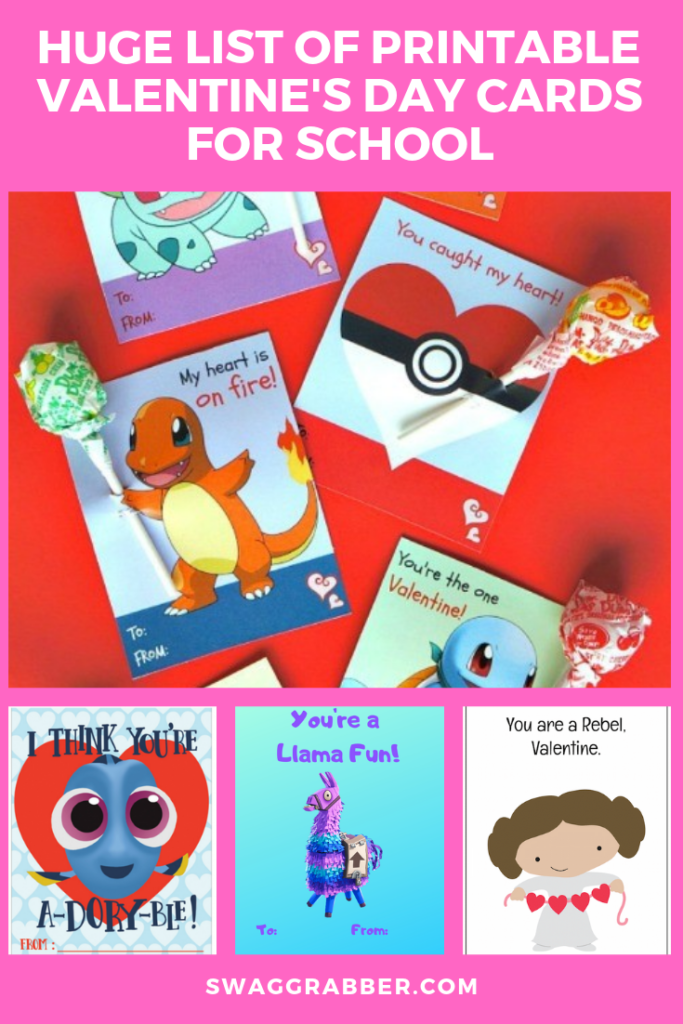 Free Magical Unicorn Printable Valentine's Day Cards for School