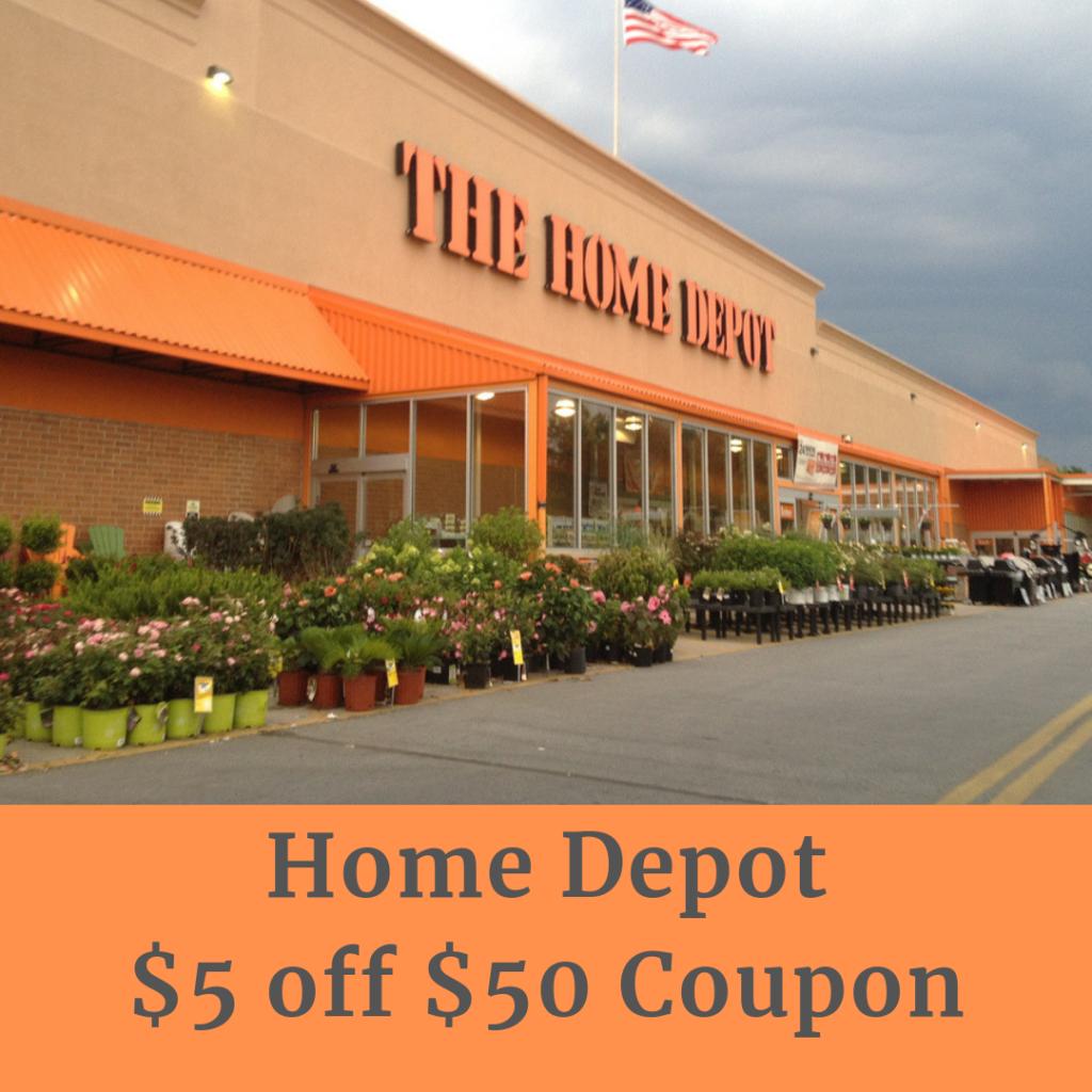 Home Depot $5 off $50 Coupon