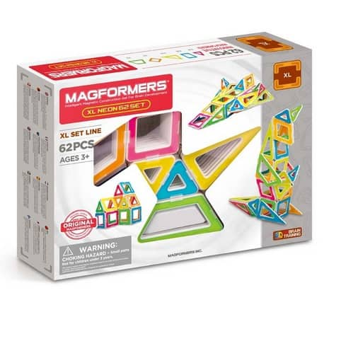 Magformers XL Neon 62Pc Set $44 (Was $99.99)