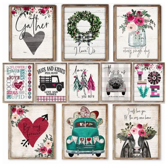 Rustic At Heart Prints Only $2.97