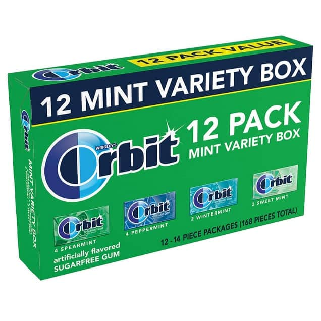 Orbit Sugarfree Gum, Mint Variety Box, 12 packs as low as $6.80