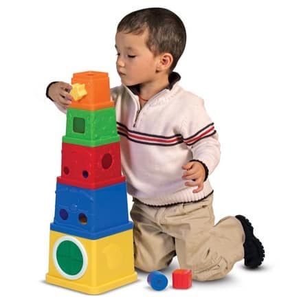 Melissa & Doug K's Kids Stacking Blocks Set With Sorting Shapes from $15.29