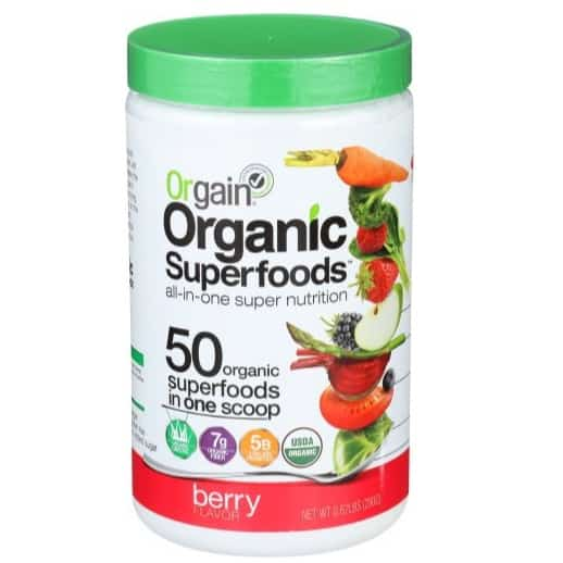 Orgain Organic Superfoods, Berry, Vegan, 0.62 Pound from $10.30