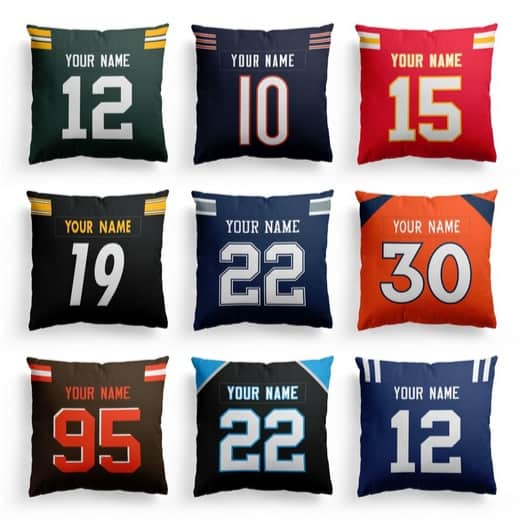 Personalized Football Pillow Covers $14.99