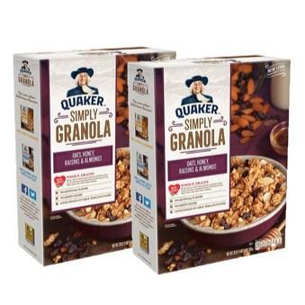 2-Pack Quaker Simply Granola Raisins & Almonds 28oz Boxes Only $6.57
