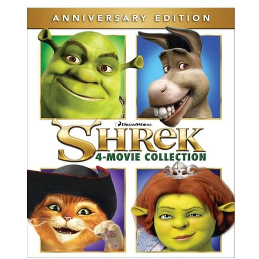 Shrek 4-Movie Collection on Blu-ray Only $14.99