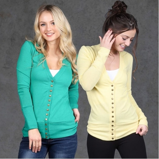 Long Sleeve Snap Button Cardigan Only $14.99