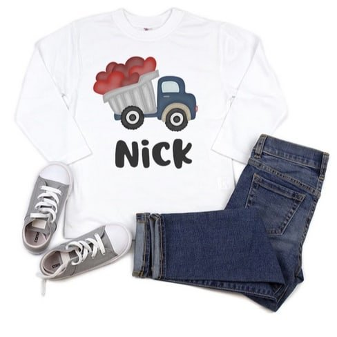 Personalized Valentine Tees & Bodysuits Only $13.99