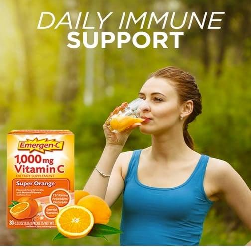 60-Count Emergen-C Dietary Supplement Fizzy Drink Mix 0.32oz Only $12.91