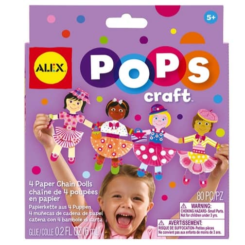 ALEX Toys POPS Craft 4 Paper Chain Dolls Only $3.50