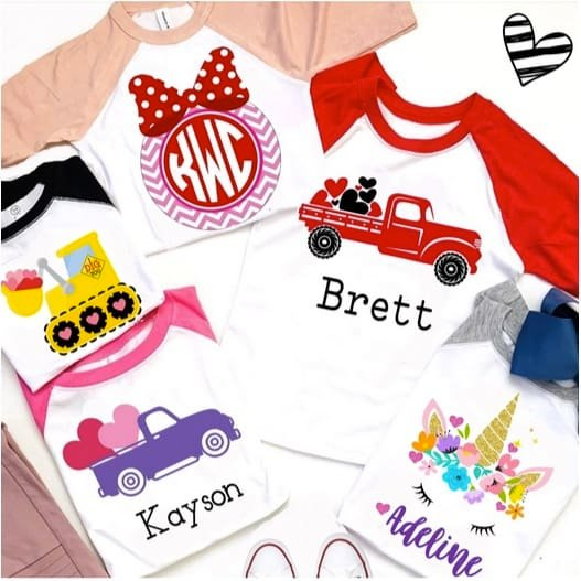 Personalized Kids Valentine Tees Only $13.99