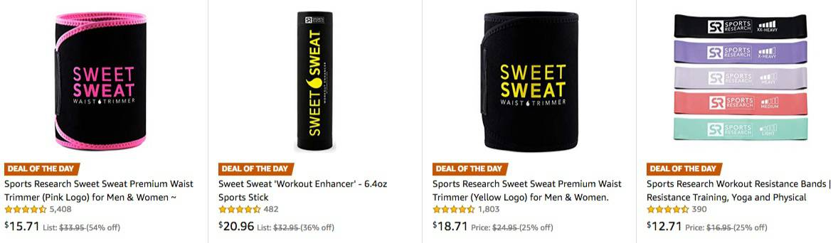 Up to 54% Off Sweet Sweat Waist Trimmer & MORE **Today Only**